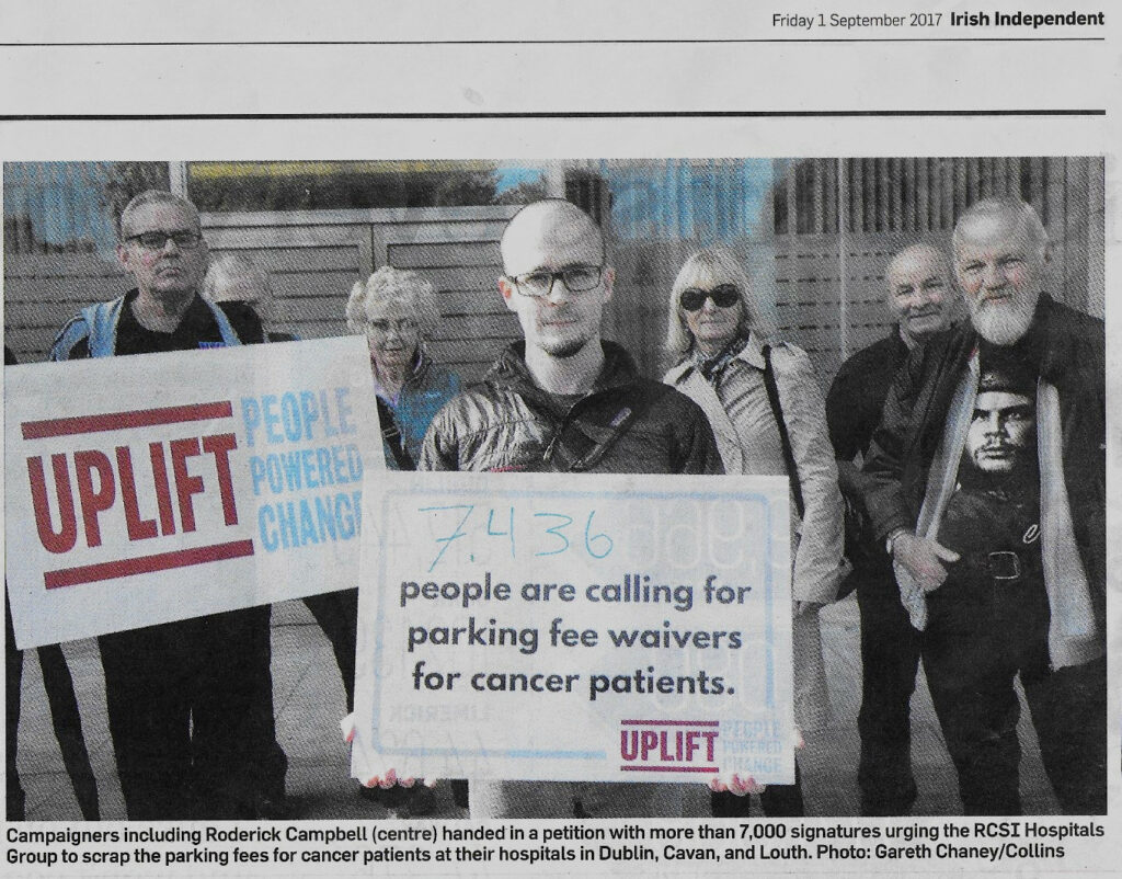 cancer parking in the newspaper!
