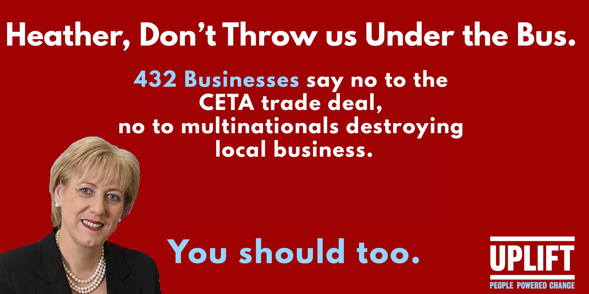 CETA Opposition billboard